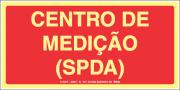 Sinalização Fotoluminescente MA22 Centro de Medição (SPDA) 12X24cm