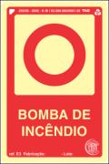 Sinalização Certificada para bomba de incêndio E3 10x15cm - PVC 2mm