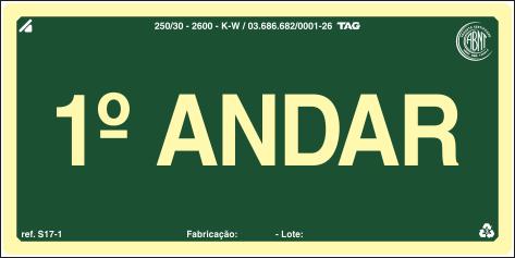 Sinalização Certificada para pavimento S17-1 - PVC 2mm