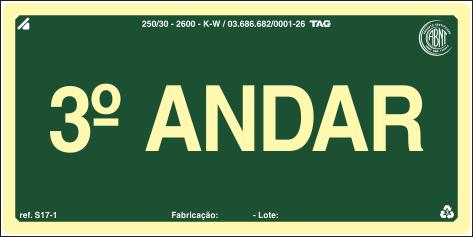 Sinalização Certificada para pavimento S17-3 - PVC 2mm