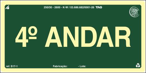 Sinalização Certificada para pavimento S17-4 - PVC 2mm