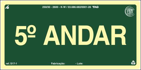 Sinalização Certificada para pavimento S17-5 - PVC 2mm