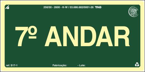 Sinalização Certificada para pavimento S17-7 - PVC 2mm