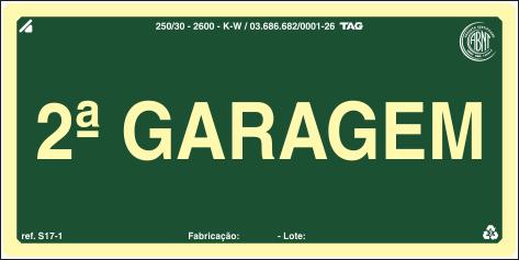 Sinalização Certificada para pavimento S17-G2 - PVC 2mm