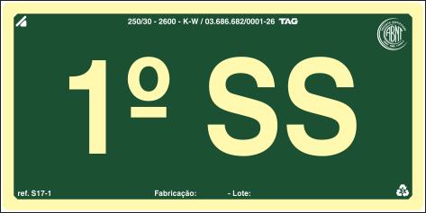 Sinalização Certificada para pavimento S17-SS1 - PVC 2mm