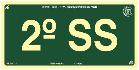Sinalização Certificada para pavimento S17-SS2 - PVC 2mm