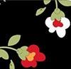 Floral fundo preto - Cor 27