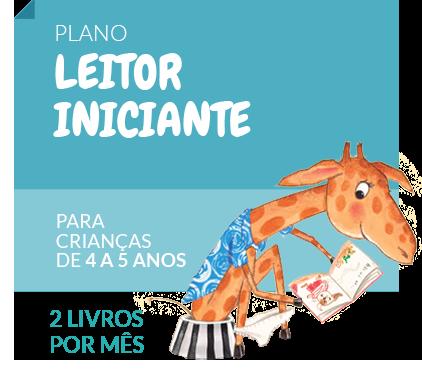 LEITOR INICIANTE (Semestral)  - Grupo Brinque-Book