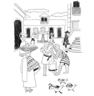 Ludi na chegada e no bota-fora da Família Real  - Brinque-Book