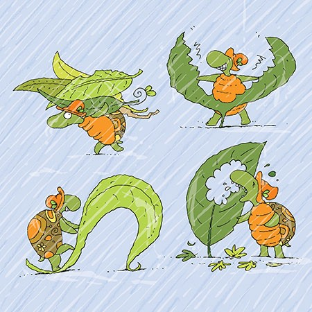 O caracol e a tartaruga em dias chuvosos  - Grupo Brinque-Book