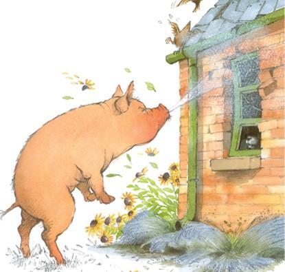 Os Três Lobinhos e o Porco Mau  - Grupo Brinque-Book