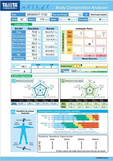 Balança de Bioimpedância Tanita RD-545 InnerScan Pro Bluetooth com Software Tanita Pro GMON 2021