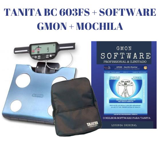 LANÇAMENTO BIO TANITA BC 603FS + SOFTWARE ORIGINAL TANITA PRO GMON + MOCHILA [KIT PROMOCIONAL]