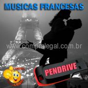 PENDRIVE 16 GIGAS GRAVADO MUSICAS COLETÂNEA MUSICAS FRANCESAS