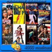 PENDRIVE 16 GIGAS GRAVADO MUSICAS COLETÂNEA TRILHA SONORA DE FILMES VOL.1 e 2