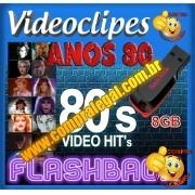 PENDRIVE 16 GIGAS GRAVADO COLETÂNEA VIDEOCLIPES ANOS 80 VOL. 1