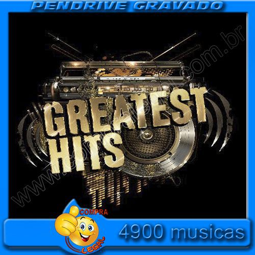 KIT 4 PENDRIVES 16 GIGAS GRAVADO COLETANEA GREATEST HITS