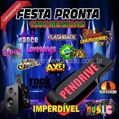 PENDRIVE 16 GIGAS GRAVADO MUSICAS ESTILOS
