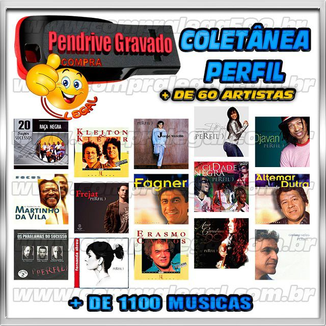 PEN DRIVE GRAVADO MUSICAS PERFIL