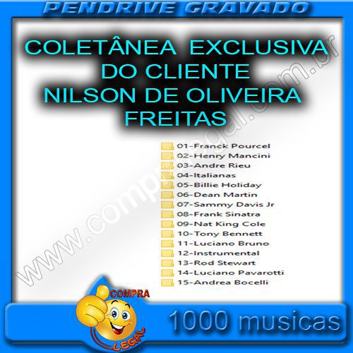 PENDRIVE 16 GIGAS COLETÂNEA EXCLUSIVA DO CLIENTE