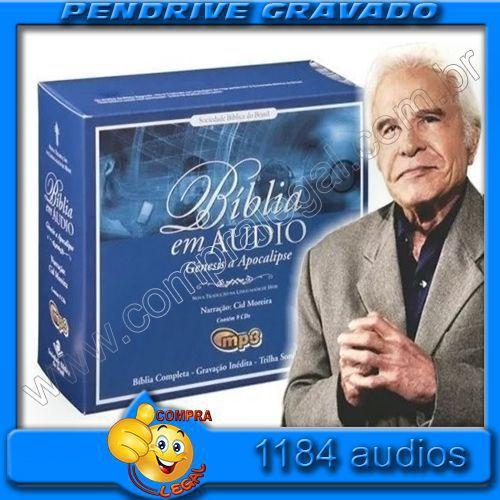 PENDRIVE 16 GIGAS GRAVADO BIBLIA SAGRADA CID MOREIRA