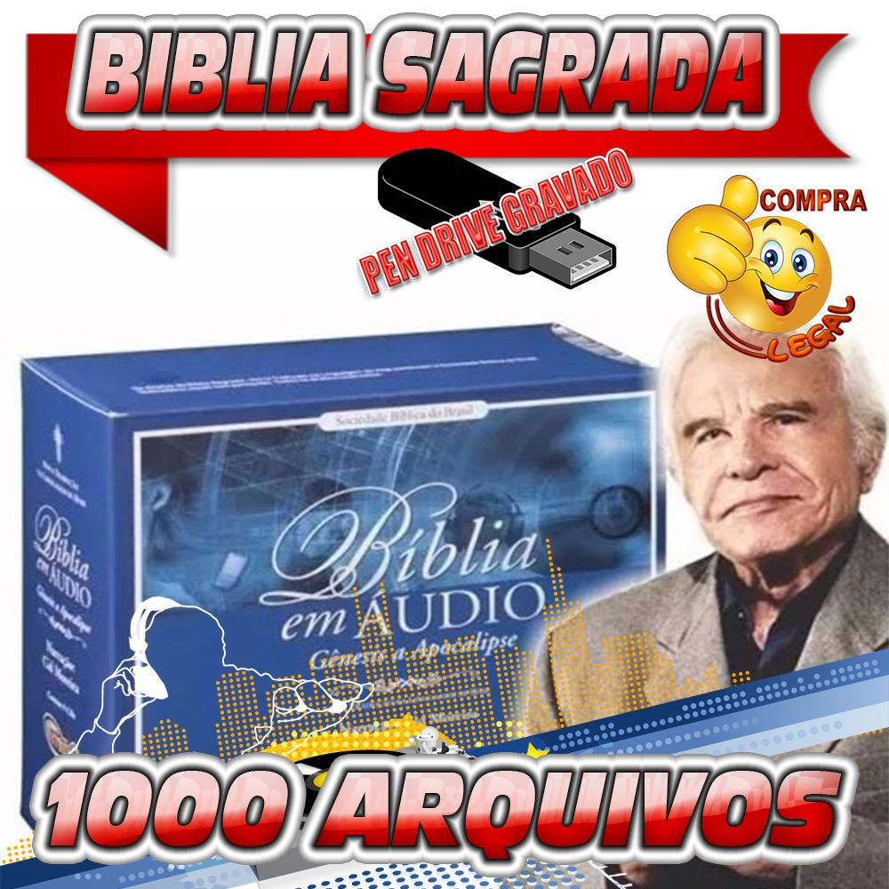 PENDRIVE GRAVADO BIBLIA SAGRADA CID MOREIRA