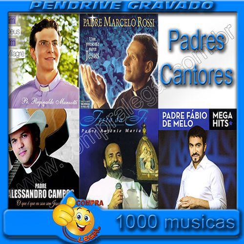 PENDRIVE 16 GIGAS GRAVADO MUSICAS COLETÂNEA PADRES CANTORES