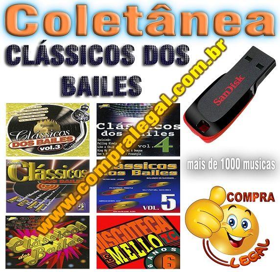 PENDRIVE GRAVADO COLETANEA CLASSICOS DOS BAILES