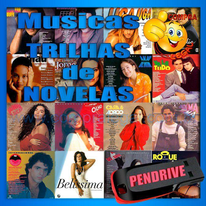 PENDRIVE 16 GIGAS GRAVADO MUSICAS COLETÂNEA MUSICAS TRILHA DE NOVELAS 2 PENDRIVES
