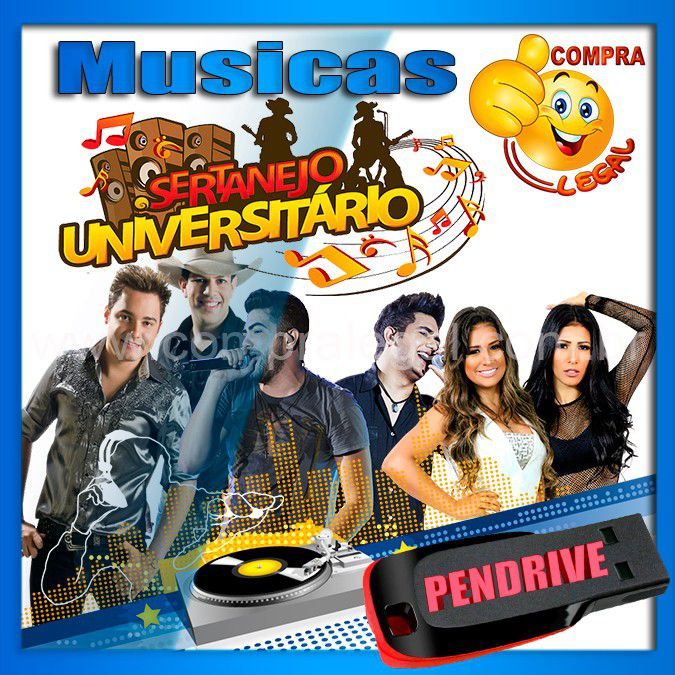 PENDRIVE 16 GIGAS GRAVADO MUSICAS COLETÂNEA SERTANEJO UNIVERSITARIO