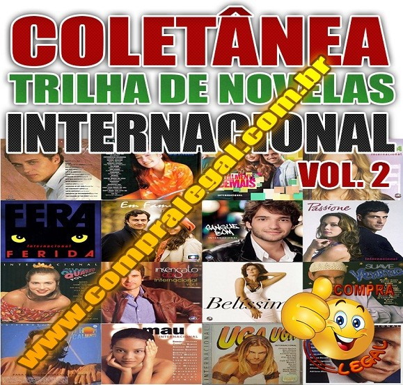 PENDRIVE GRAVADO COLETÂNEA TRILHA DE NOVELAS INTERNACIONAL VOL. 1 E 2