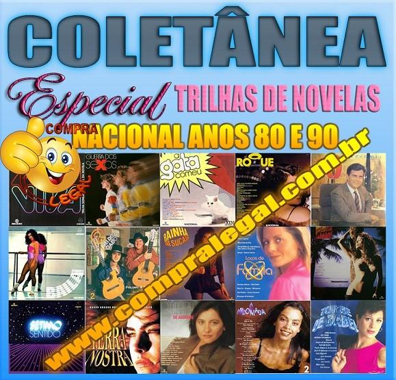 PENDRIVE GRAVADO COLETANEA TRILHA DE NOVELAS NACIONAL ANOS 80 E 90
