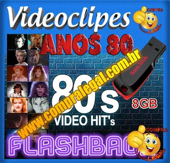 PENDRIVE GRAVADO COLETÂNEA VIDEOCLIPES ANOS 80 VOL. 1