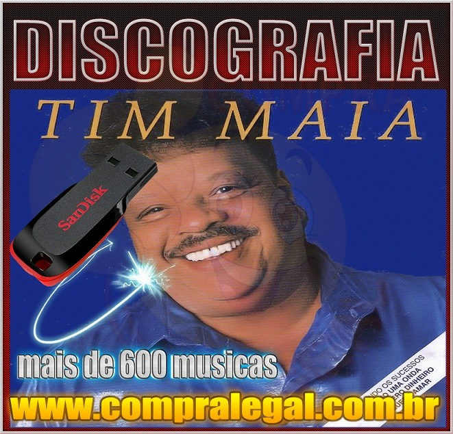 PENDRIVE GRAVADO COM MUSICAS DISCOGRAFIA TIM MAIA