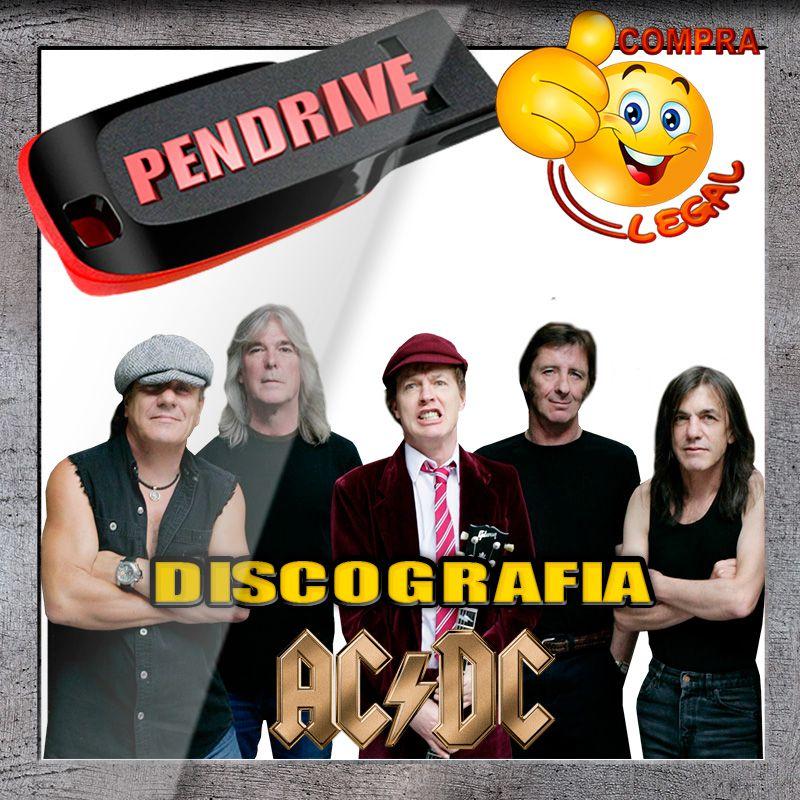 PENDRIVE GRAVADO DISCOGRAFIA ACDC