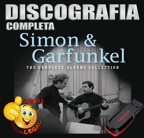 PENDRIVE GRAVADO DISCOGRAFIA SIMON E GARFUNKEL