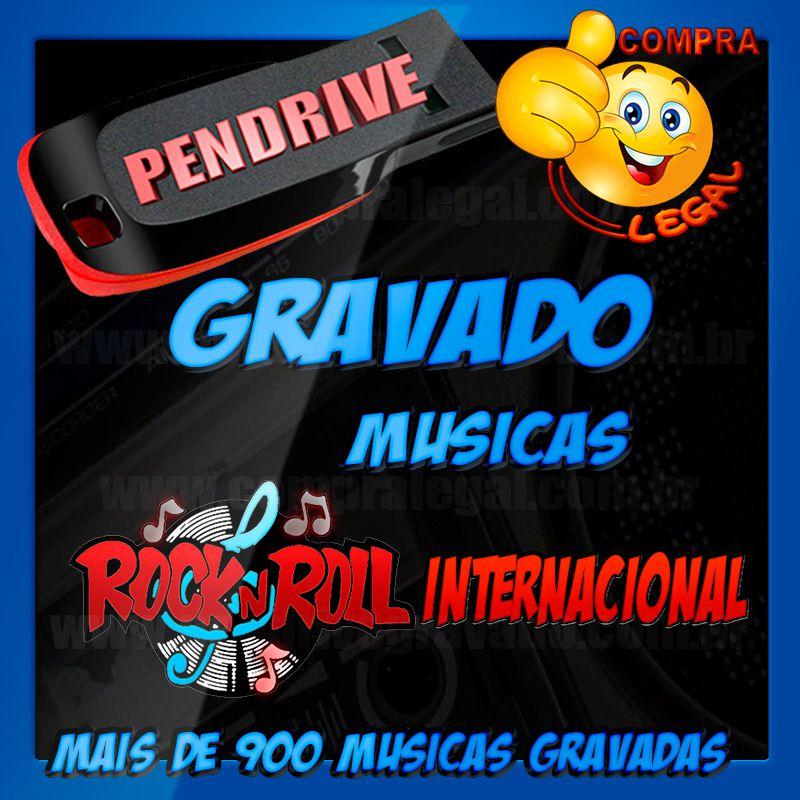 PENDRIVE GRAVADO ROCK INTERNACIONAL