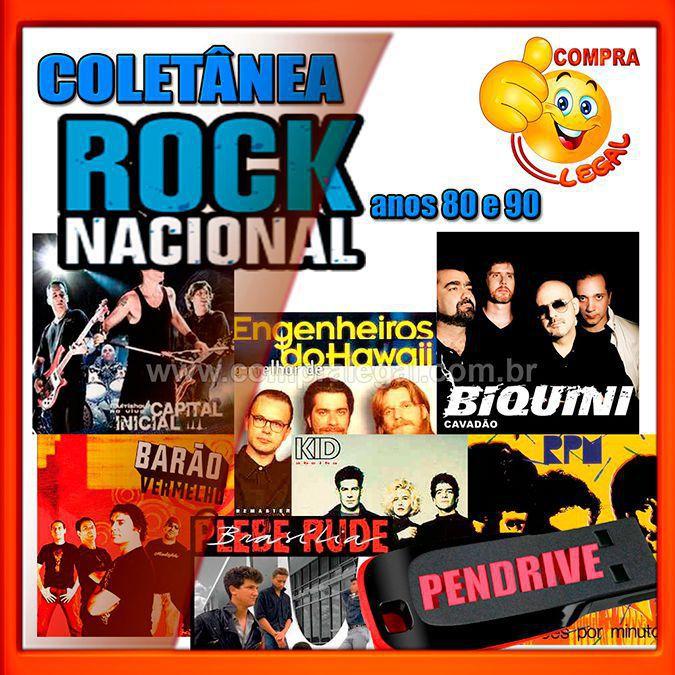 PENDRIVE GRAVADO  ROCK NACIONAL ANOS 80 E 90