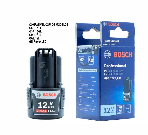 Bateria Bosch GBA 12v Max 2.0ah Professional 1600A0021D