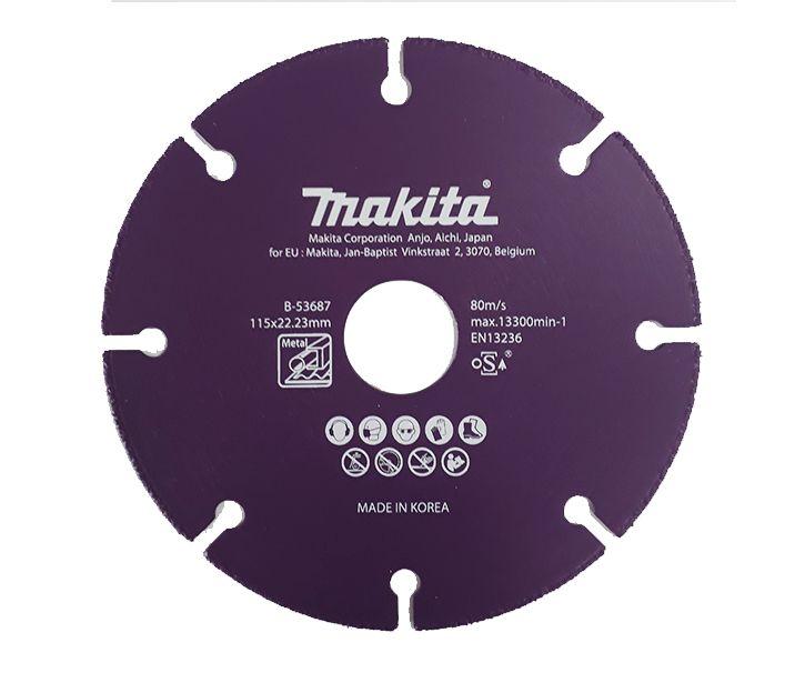 """Disco Diamantado 4.1/2"""" B-53687 Para Metais Original Makita"""