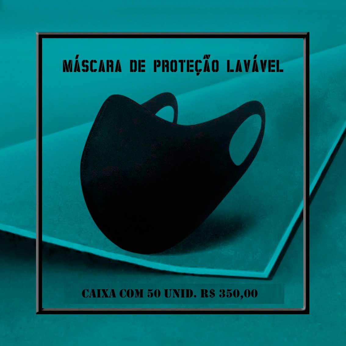 Kit 50 Máscaras De Proteção Laváveis Neoprene