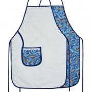 Avental De Cozinha Dupla Face Azul Tropical