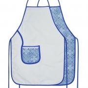 Avental De Cozinha Dupla Face Azulejo