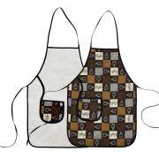 Avental De Cozinha Dupla Face Café
