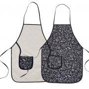 Avental De Cozinha Dupla Face Preto E Branco