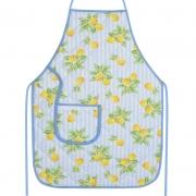 Avental De Cozinha Forro Tecido Azul Limão