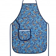 Avental De Cozinha Forro Tecido Azul Tropical