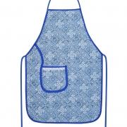 Avental De Cozinha Plastificado Azul Azulejo