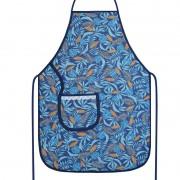 Avental De Cozinha Plastificado Azul Tropical