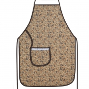 Avental De Cozinha Plastificado Marrom Outono